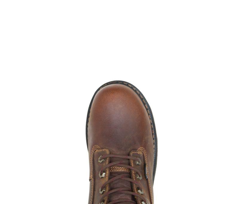 """Brek Durashocks® Waterproof 8"""" Steel-Toe EH Work Boot, Brown, dynamic"""