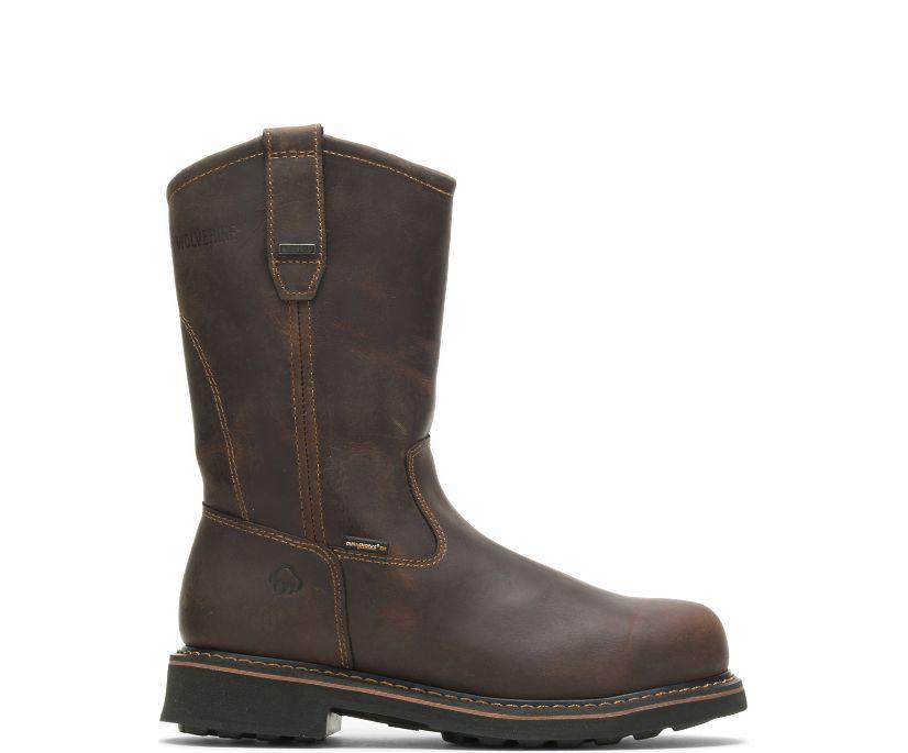Brek Durashocks® Waterproof Wellington Steel-Toe EH Work Boot, Dark Brown, dynamic