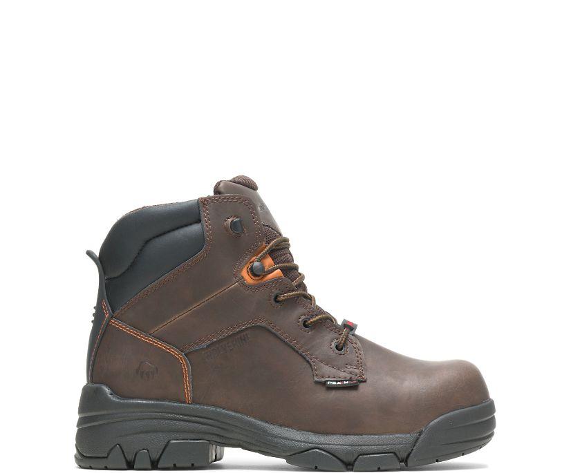 """Merlin Waterproof Composite-Toe 6"""" Work Boot, Brown, dynamic"""