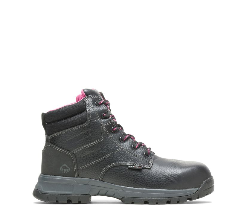 "Piper Waterproof Composite-Toe 6"" Work Boot, Black, dynamic"
