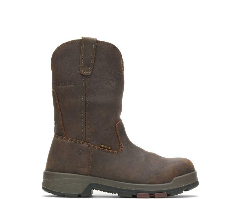 Cabor EPX® Waterproof Composite Toe Wellington, Dark Brown, dynamic