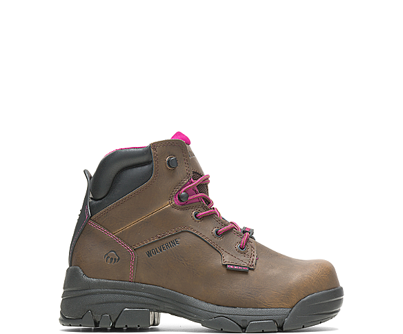 "Merlin Waterproof Composite-Toe 6"" Work Boot, Brown, dynamic"