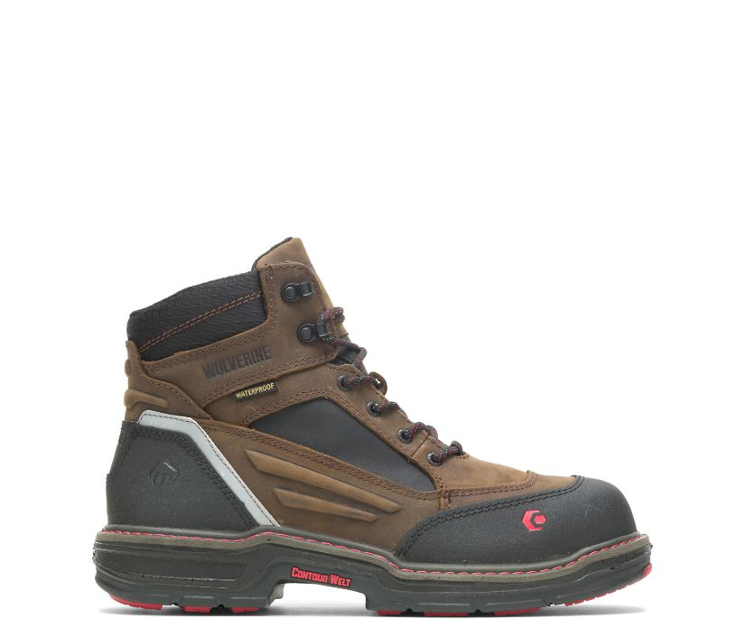 "Overman Waterproof CarbonMAX®  6"" Work Boot, Brown/Black, dynamic"