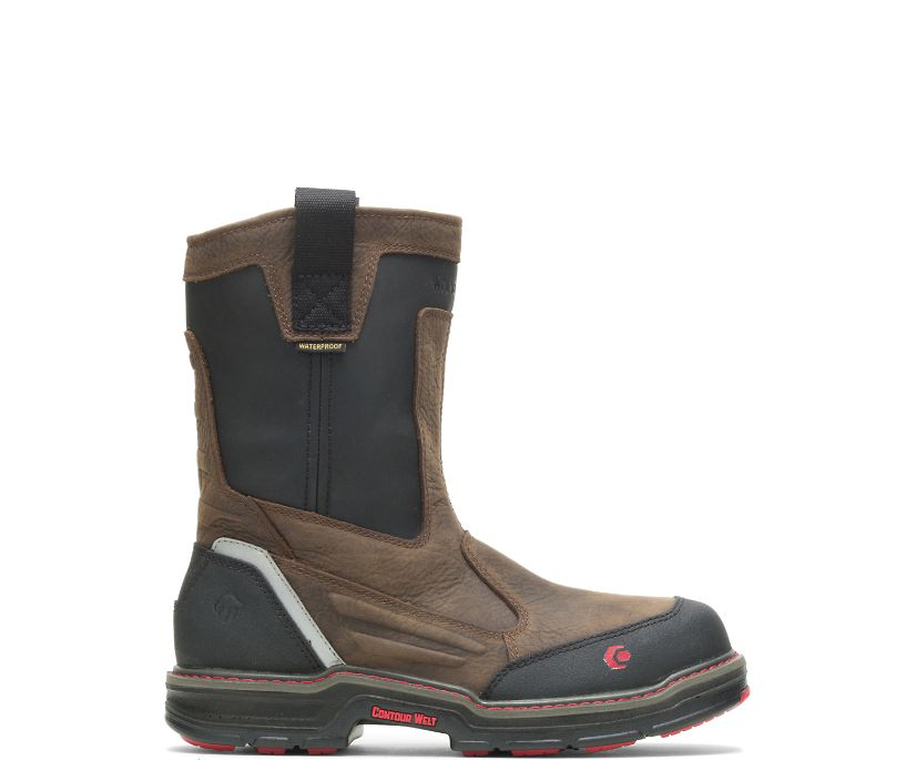 Overman Waterproof CarbonMAX®  Wellington, Brown/Black, dynamic