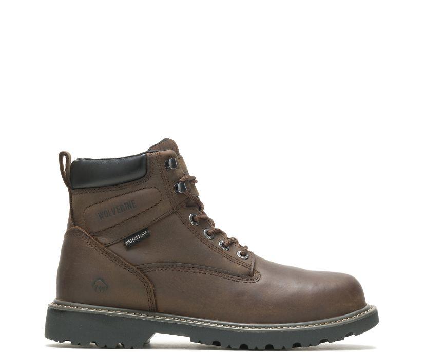 """Floorhand Waterproof 6"""" Work Boot, Dark Brown, dynamic"""