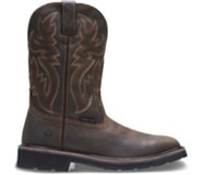 Rancher Square-Toe Steel-Toe Wellington, Dk Brown/Rust, dynamic