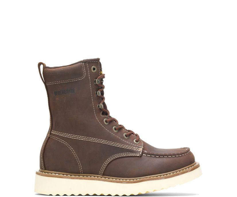 """Loader 8"""" Steel-Toe Wedge Boot, Brown, dynamic"""