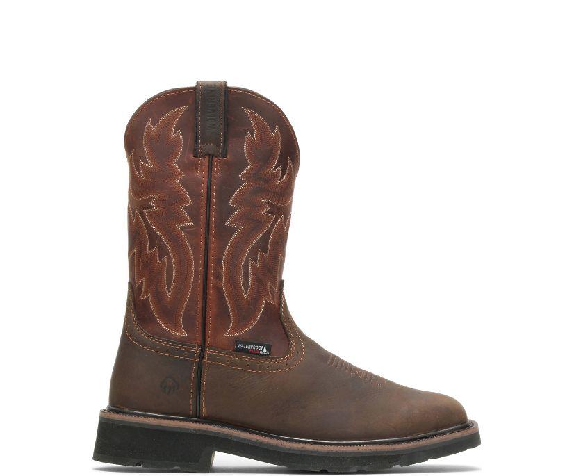 Rancher Waterproof Steel-Toe Wellington, Rust/Brown, dynamic