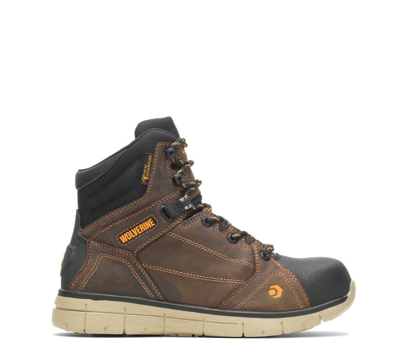 "RIGGER EPX CARBONMAX SAFETY TOE 6"" BOOT, Summer Brown, dynamic"
