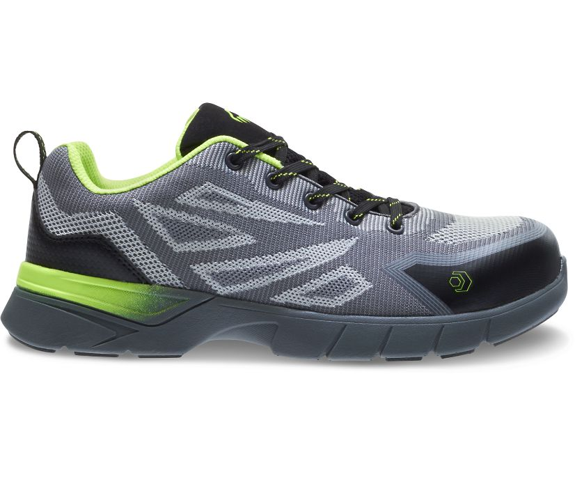 Jetstream 2 Carbonmax Safety Toe Shoe, Grey/Green, dynamic