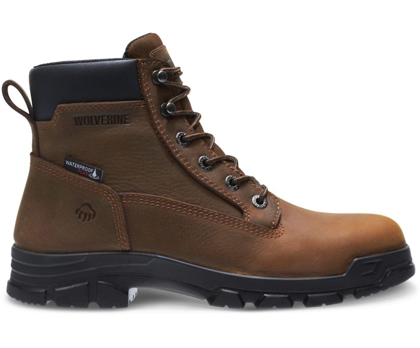 "Chainhand Steel-Toe Waterproof 6"" Boot, Brown, dynamic"