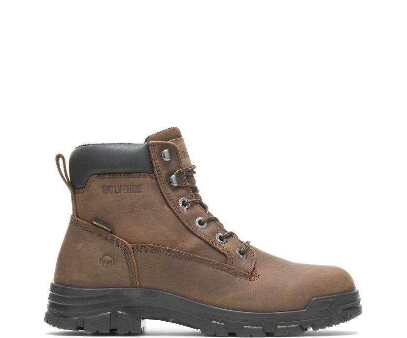"""Chainhand Steel-Toe Waterproof 6"""" Boot, Brown, dynamic"""