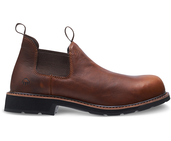 Ranchero Steel-Toe Romeo, Brown, dynamic