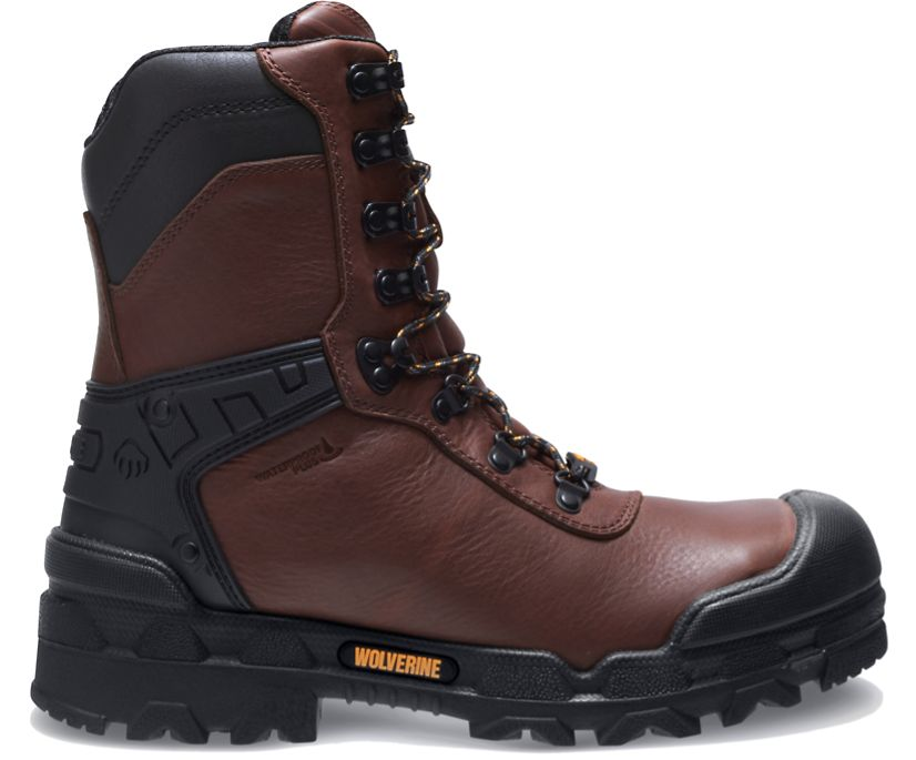 """Warrior CarbonMAX® 8"""" Boot, Brown, dynamic"""