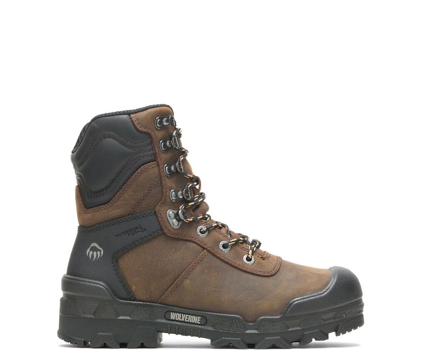 "Warrior Met-Guard 8"" Boot, Dark Coffee, dynamic"