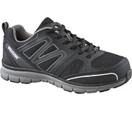 Nimble CSA Steel Toe Work Shoe, Black/Grey, dynamic