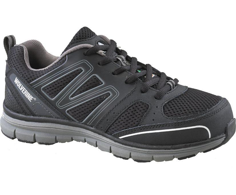 Nimble CSA Steel Toe Work Shoe, Black/Grey, dynamic