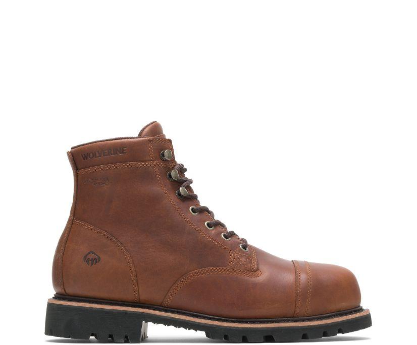"""Journeyman Steel-Toe 6"""" Boot, Brown, dynamic"""