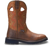 Rancher Aztec Steel-Toe Wellington Work Boot, Tan, dynamic