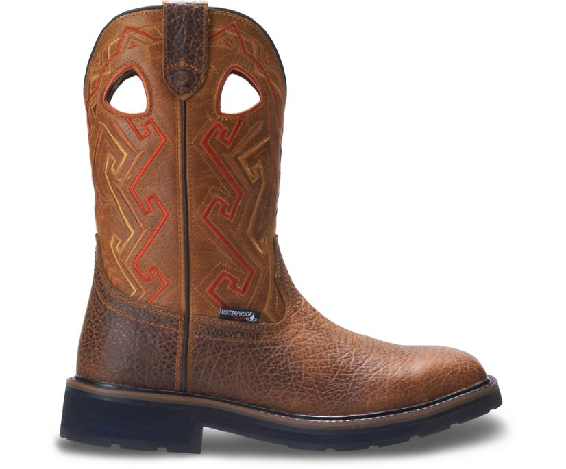 Rancher Aztec Wellington Work Boot, Tan, dynamic