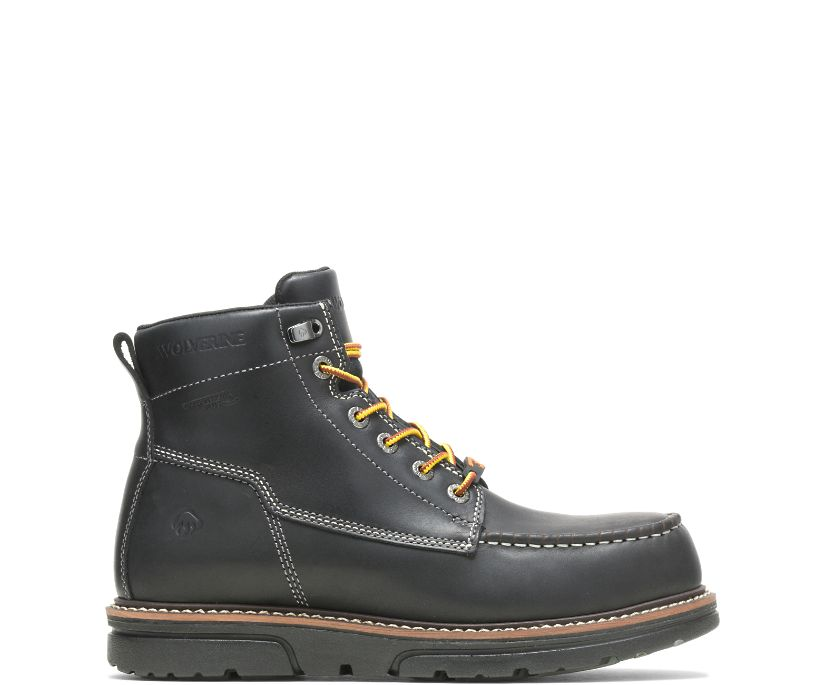"I-90 DuraShocks Moc-Toe 6"" Work Boot, Black, dynamic"