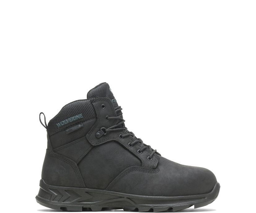 "ShiftPLUS Work LX 6"" Alloy-Toe Boot, Black, dynamic"