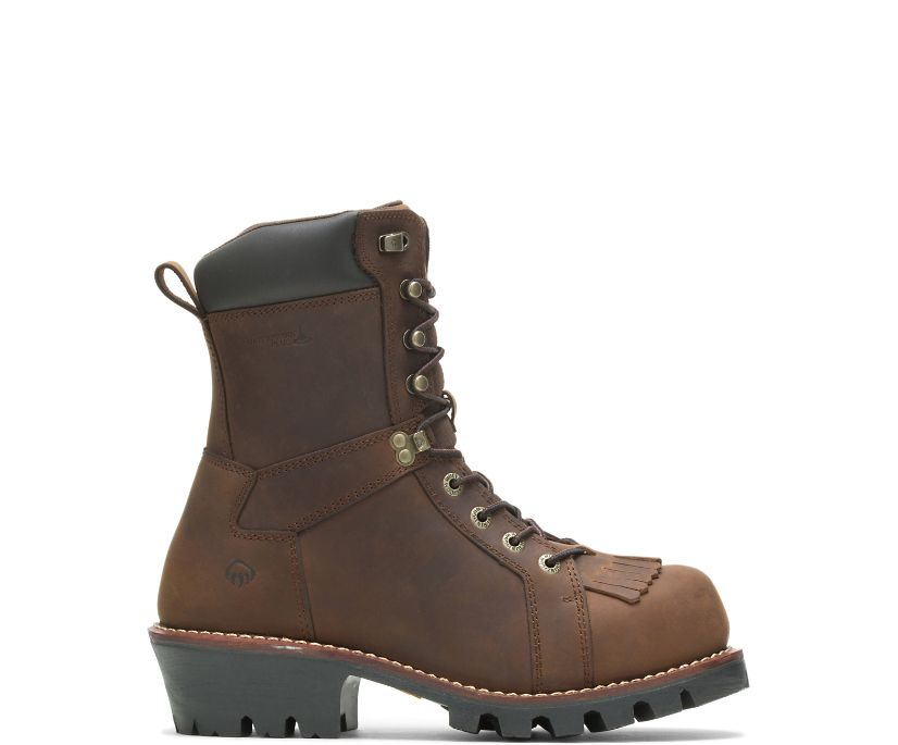 "Logger 8"" Boot, Chestnut, dynamic"