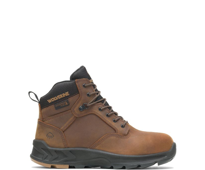 """ShiftPLUS Work LX 6"""" Alloy-Toe Boot, Brown/Black, dynamic"""