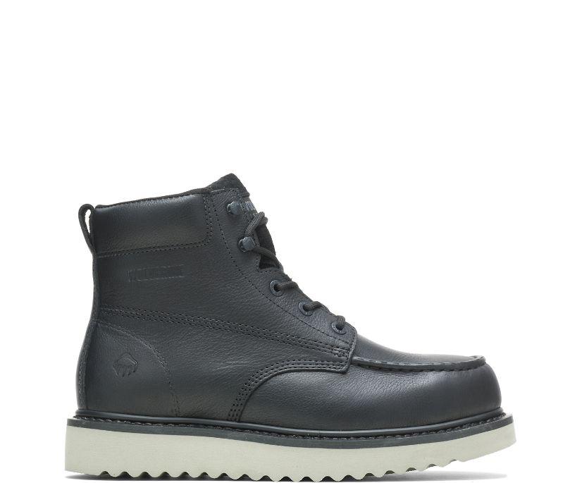 "Loader 6"" Steel-Toe Wedge Boot, Black, dynamic"