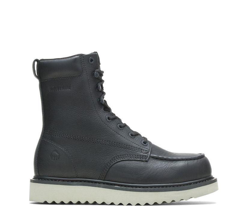 "Loader 8"" Steel-Toe Wedge Boot, Black, dynamic"