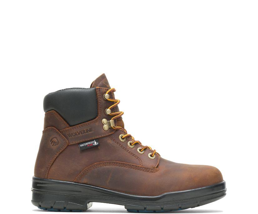 """DuraShocks® SR 6"""" Steel Toe Boot, Dark Brown, dynamic"""