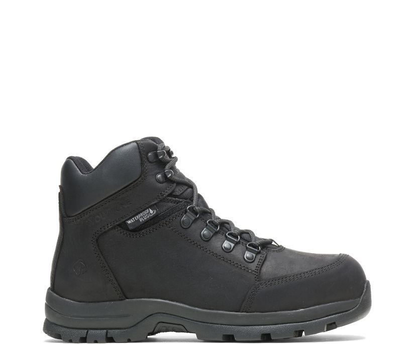Grayson Steel Toe Boot, Black, dynamic