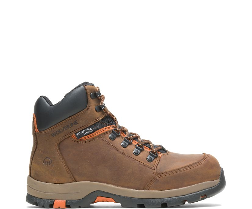 Grayson Steel Toe Boot, Brown, dynamic