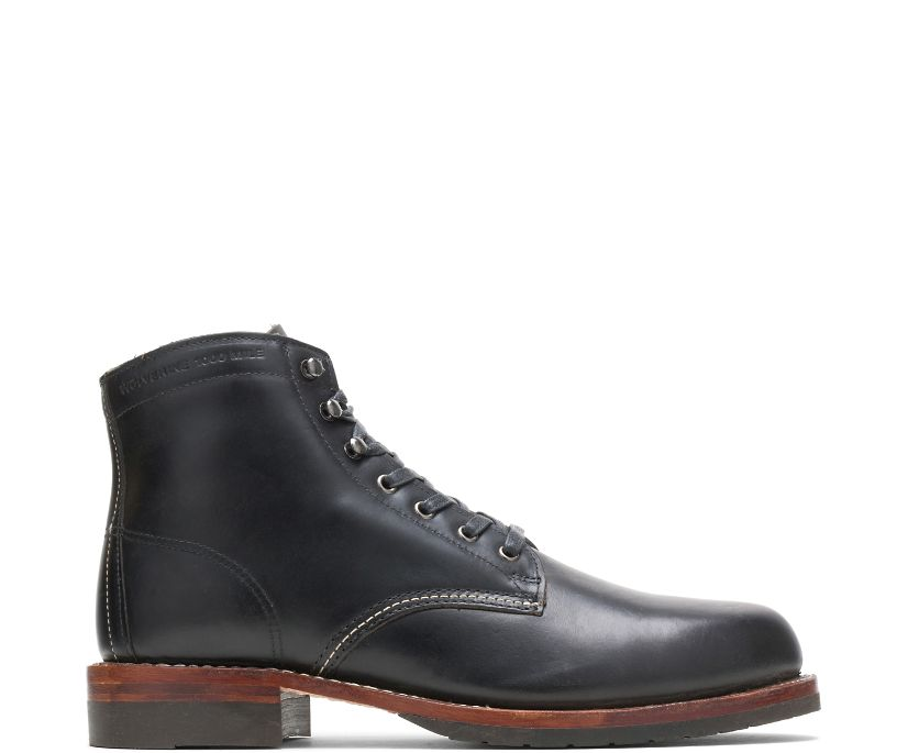 Evans 1000 Mile Boot, Black Leather, dynamic