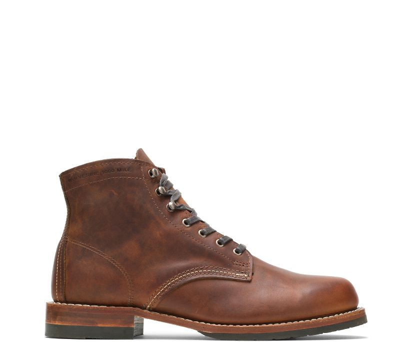 Evans 1000 Mile Boot, Brown Leather, dynamic