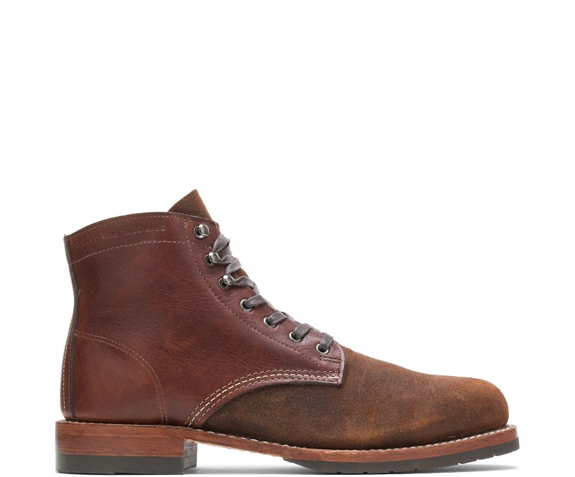 Evans 1000 Mile Boot - Two Tone, Brown Leather/Suede, dynamic