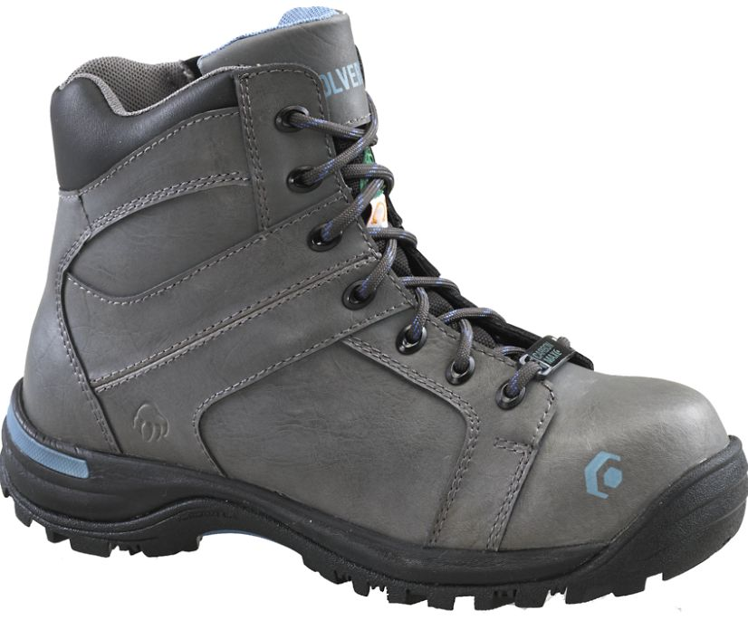View Side Zip CSA CarbonMax Work Boot, Grey, dynamic