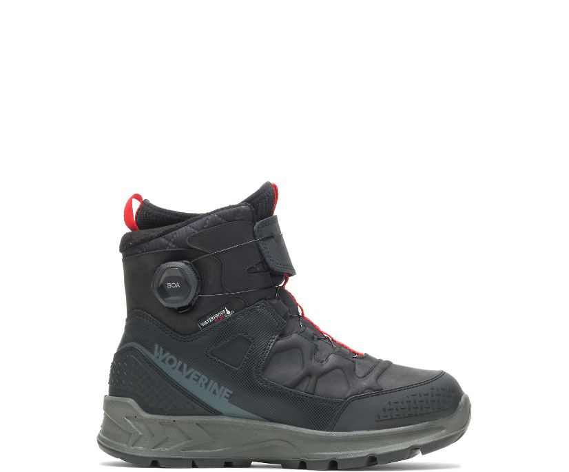 ShiftPlus Polar Range BOA Winter Boot, Black, dynamic