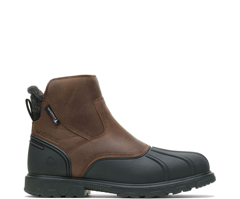 Muscovy Romeo Zip Boot, Brown, dynamic