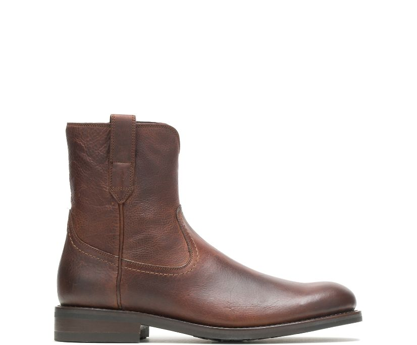 BLVD Pull-On Zip Boot, Brown, dynamic