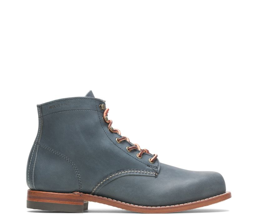 Olive Tanned - 1000 Mile Plain-Toe Original Boot, Navy, dynamic