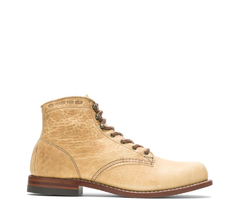Olive Tanned - 1000 Mile Plain-Toe Original Boot, Natural, dynamic