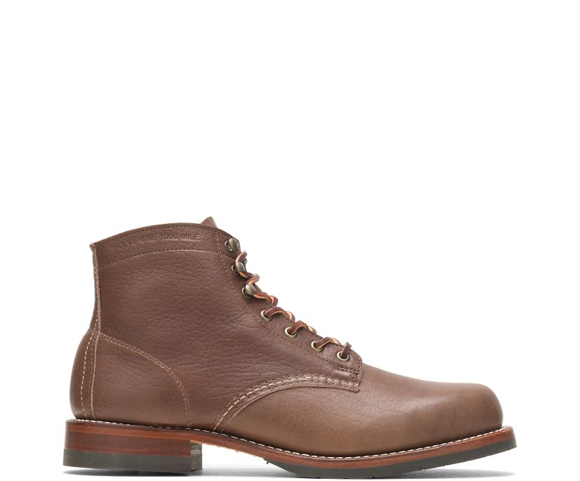 Olive Tanned - 1000 Mile Plain-Toe Classic Boot, Brown, dynamic