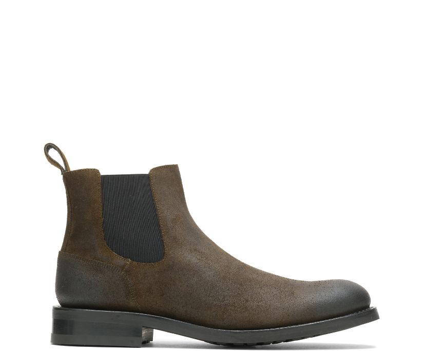 BLVD Chelsea Boot, Rugged Leather Military, dynamic