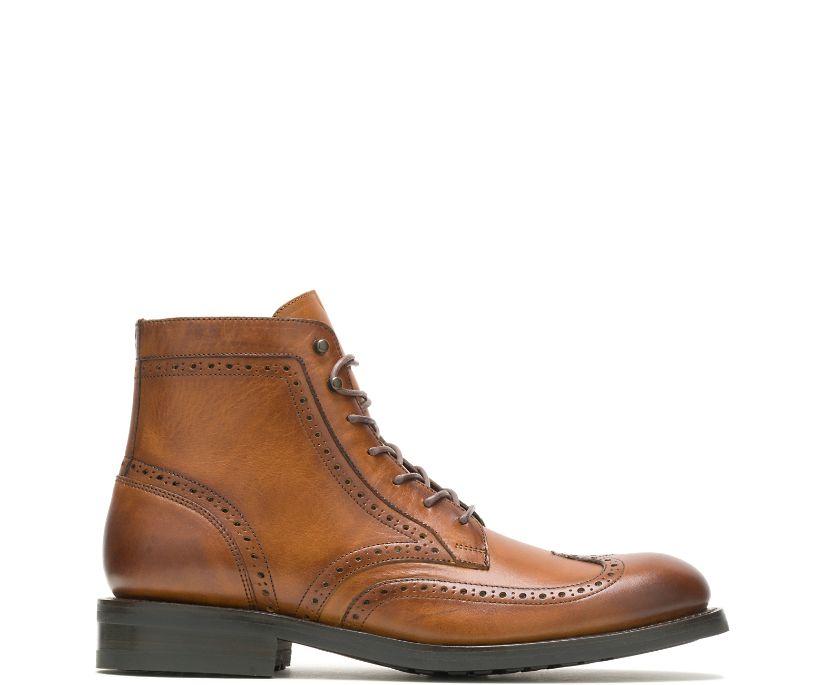 BLVD Wing Tip Boot, Mustard, dynamic