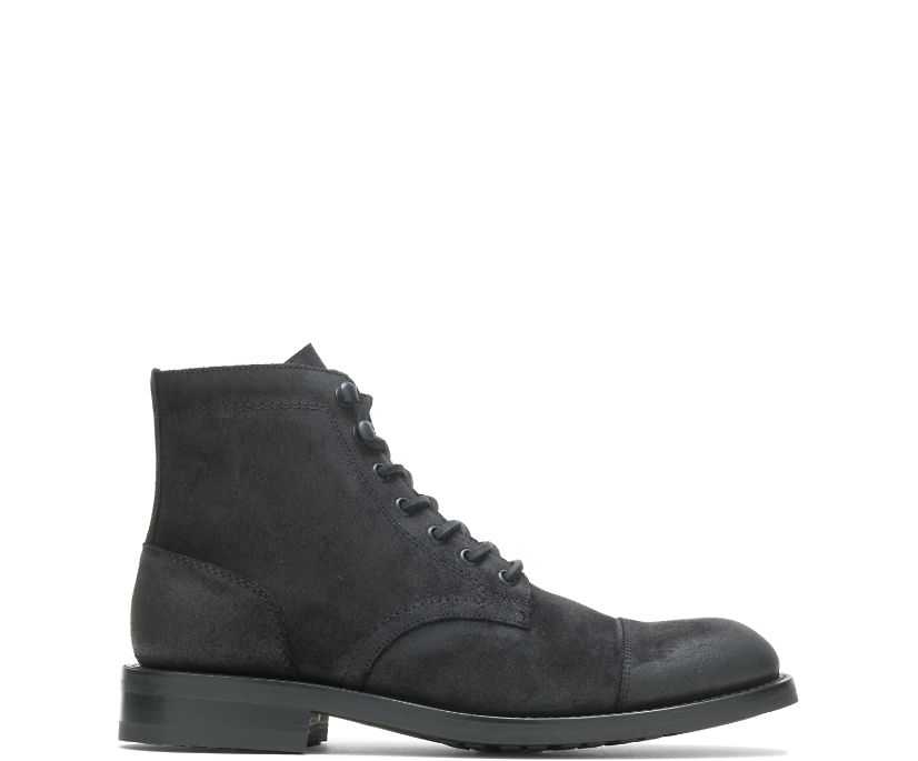 BLVD Cap Toe, Rugged Leather - Black, dynamic