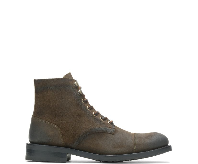 BLVD Cap Toe, Rugged Leather - Military, dynamic