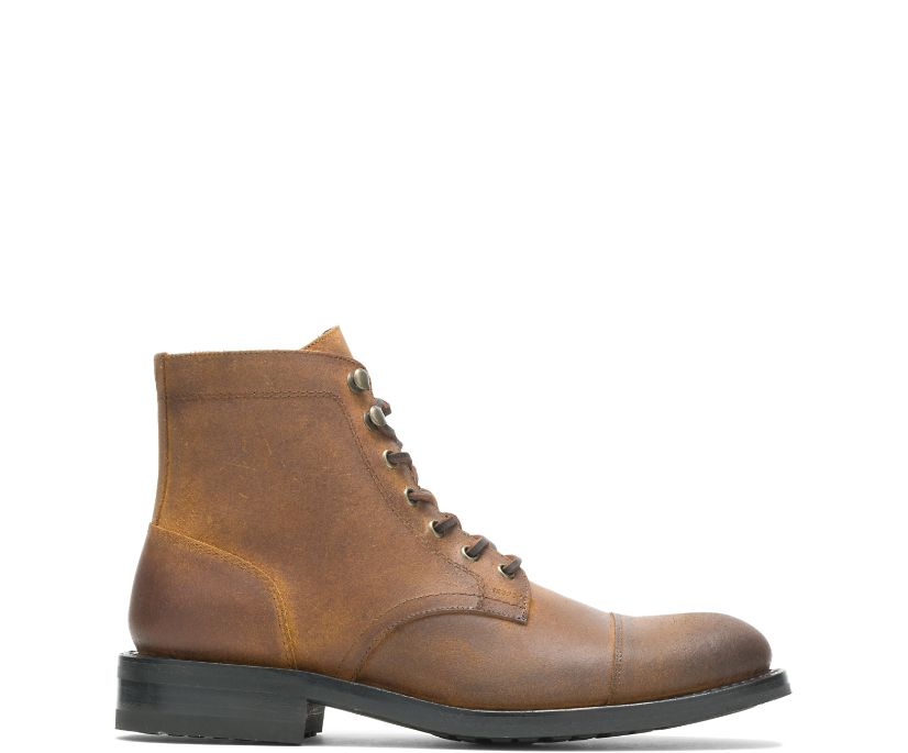 BLVD Cap Toe, Rugged Leather Brown, dynamic