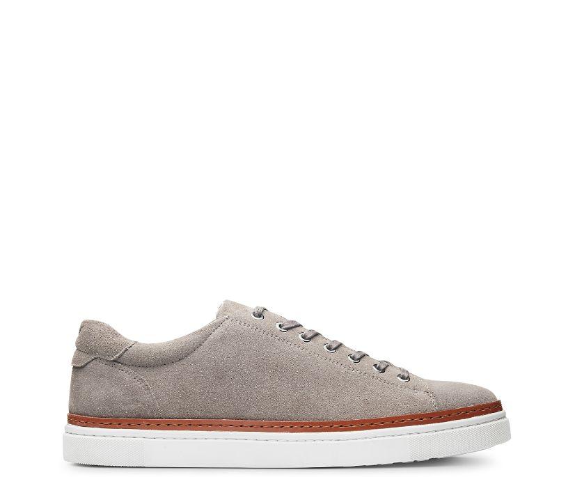 BLVD Low Sneaker, Gray Suede, dynamic