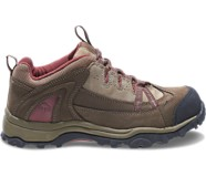 Maggie Lace-Up Steel-Toe EH Work Shoe, Brown/Red, dynamic